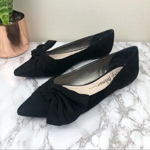 LIBBY EDELMAN | Rosie Pointed Toe Flats Bow Black